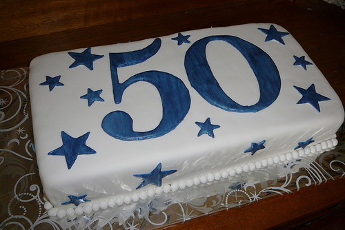 Calling All Bakers Peddlers Villages 50th Anniversary Birthday Cake