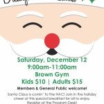 Join the NAC for a Special Breakfast with Santa