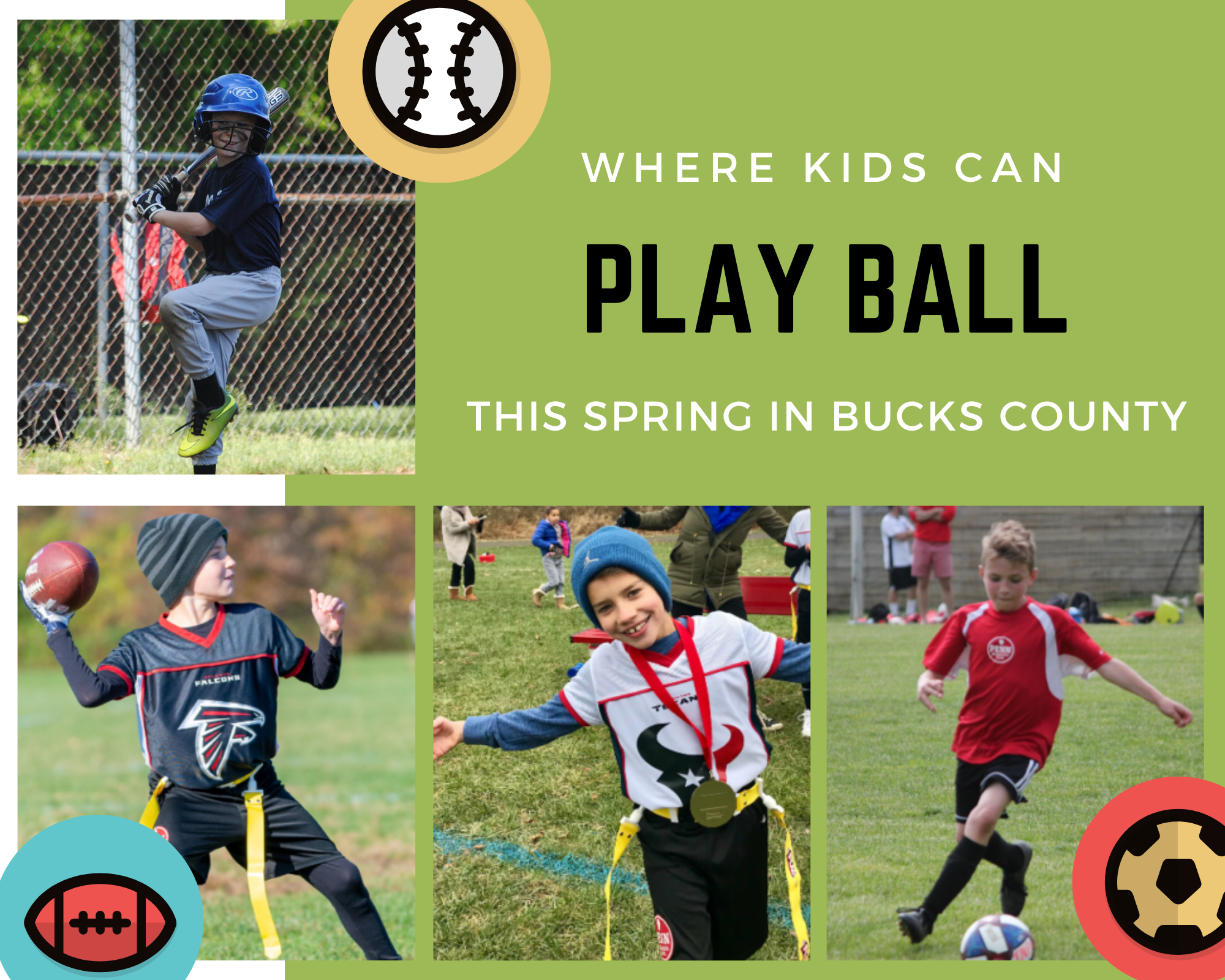 Where Kids Can Play Ball This Spring in Bucks County